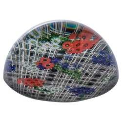 Gucci Multicolor Printed Glass Paperweight