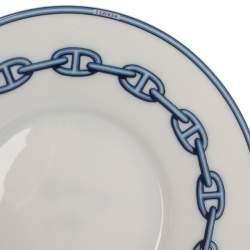Hermes Blue Porcelain Chaine d'Ancre 4-Piece Tea Cup And Saucer Set
