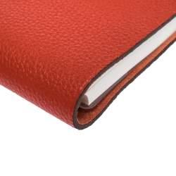 Hermes Capucine Togo Leather Ulysse Mini Notebook