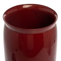 Hermes Burgundy Resin Vase