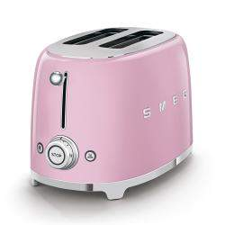 Smeg 50's Retro Style Aesthetic 2 Slice Toaster, Pink (Available for UAE Customers Only)