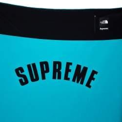 Supreme X The North Face Teal Arc Denali Fleece Blanket