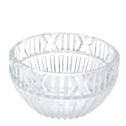 Tiffany & Co. Crystal Roman Numeral Atlas Bowl