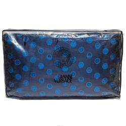 Versace Medusa Navy Blue Cotton Pillow