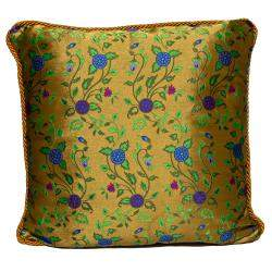 Versace Purple & Yellow Cotton Cushion