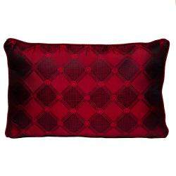 Versace Medusa Red & Black Cotton & Velvet Pillow