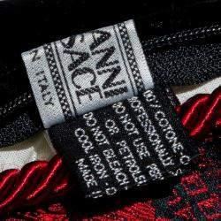 Versace Medusa Red & Black Cotton & Velvet Pillow