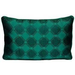 Versace Medusa Green & Black Cotton & Velvet Pillow