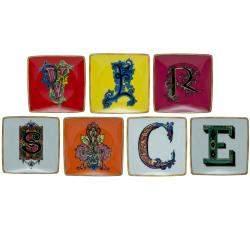 Versace Letters Porcelain Plates Set