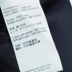3.1 Phillip Lim Black Organza Giupure Lace Detail Blouse S