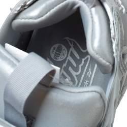 Vetements x Reebok Reflective Grey PVC Instapump Fury Low Top Sneakers Size 38.5