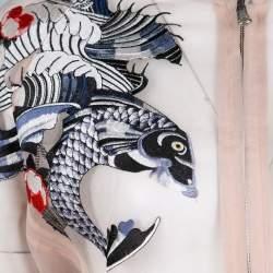 3.1 Phillip Lim Beige Natural Tattoo Embroidered Organza Bomber Jacket S