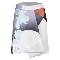3.1 Philip Lim Multicolor Soleil Print Rounded Fold Detail Skirt XS
