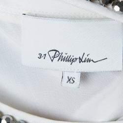 3.1 Phillip Lim Printed Chain Detail Crop Top XS