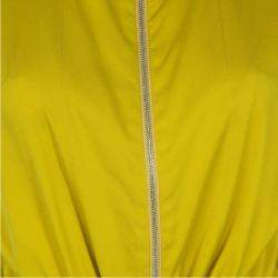 3.1 Phillip Lim Mustard Yellow Silk Zip Detail Sleeveless Jumpsuit XS