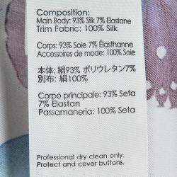3.1 Phillip Lim Floral Printed Silk Sheer Yoke Detail Shirt S