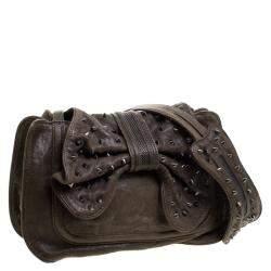 3.1 Phillip Lim Khaki Leather Bow Studded Edie Shoulder Bag