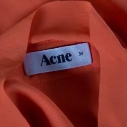Acne Studios Orange Long Sleeve Sheer Penny Tunic S