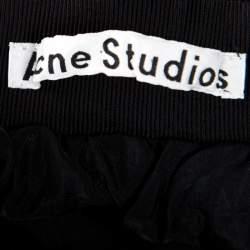 Acne Studios Black Gathered Flared Romantic Skirt S
