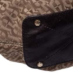 Aigner Beige/Brown Signature Canvas and Leather Shoulder Bag