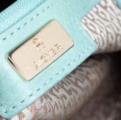 Aigner Mint Green Leather Satchel