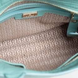 Aigner Mint Green Leather Satchel