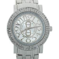 Aigner Silver Stainless Steel Diamond Cortina A26300 Women's Wristwatch 35 mm