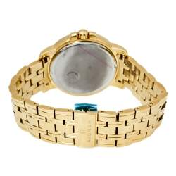 Aigner Silver Gold Plated Stainless Steel Triento A09300 Women's Wristwatch 38 mm