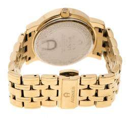 Aigner Champagne Gold Plated Stainless Steel A26337 Women's Wristwatch 36MM