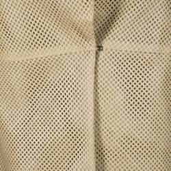 Akris Beige Perforated Lamb Leather Sleeveless Vest M