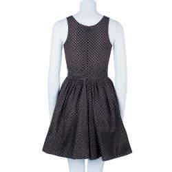 Azzedine Alaia Monochrome Flare Dress M