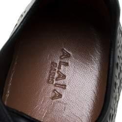 حذاء رياضي علايا جلد قصات ليزر أسود مقاس 41