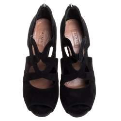 حذاء بوت كاحل علايا قصه سويدى أسود مقاس 38.5