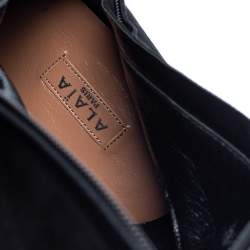 Alaia Black Suede Mid Calf Zipper Boots Size 40