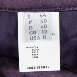 Alberta Ferretti Purple Silk Satin Wide Leg Trousers M