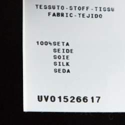 Alberta Ferretti Black Silk Waist Tie Detail Maxi Skirt M