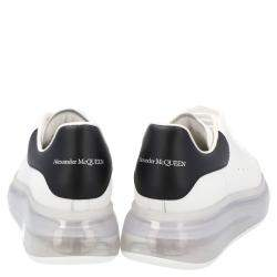 Alexander McQueen White/Black Leather Oversized Clear sole Sneakers Size EU 37