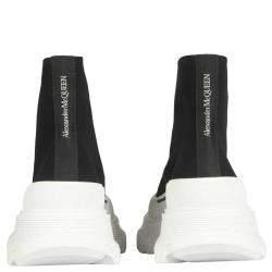 Alexander McQueen Black/White Tread Slick Boots Size IT 39