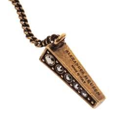 Alexander McQueen Crystal Studded Skull Chain Stick Brooch