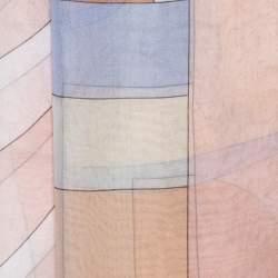 Alexander McQueen Multicolor Pastel Geometric Print Scarf