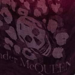 Alexander McQueen Multicolor Gradient Skull Patterned Fiber & Modal Scarf
