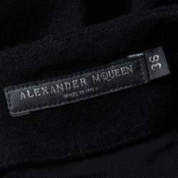 Alexander McQueen Black Wool Pencil Skirt S