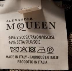 Alexander McQueen Bicolor Spine Lace Jacquard Knit Crop Top S