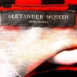 Alexander McQueen Red & Black Skull Print Cotton T-Shirt S