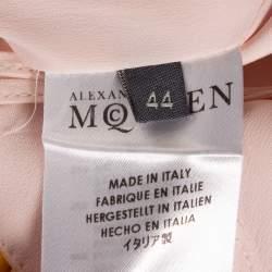 Alexander McQueen Pale Pink Crepe Asymmetrical Hem Tunic Top M