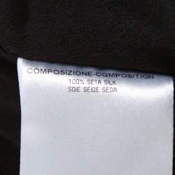 Alexander McQueen Black Silk Long Sleeve Peplum Gown S