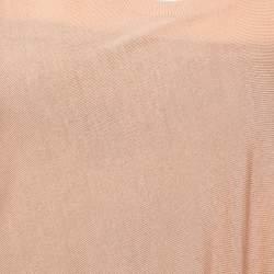 Alexander McQueen Beige Draped Knit Asymmetric Top S