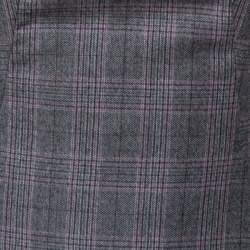 Alexander McQueen Grey Checked Wool Pleated Sleeve Dress S