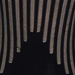 Alexander McQueen Black Knit Sheer Detail Sleeveless Maxi Dress S