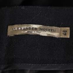 Alexander McQueen Black Wool Wide Leg Pants L